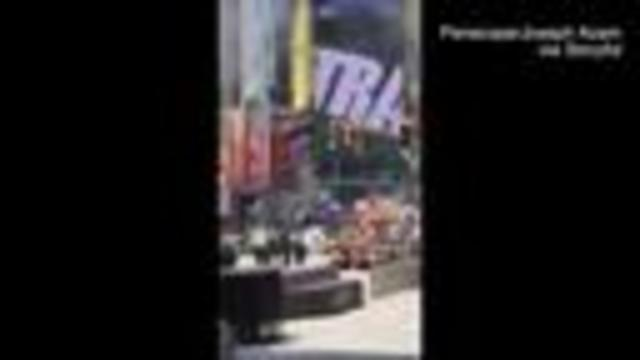 Vehicle  drives wrong way in Times Square, plows into pedestrians