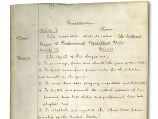 Pro baseball's founding documents up for auction