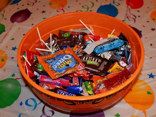 Halloween candy giveaways for a vote
