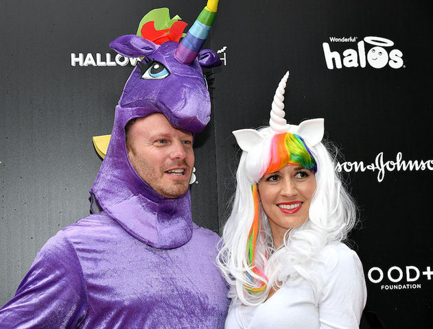 actor ian ziering and erin kristine ludwig attend the first ever good foundation halloween bash hosted jessica seinfeld at sunset gower studios on october