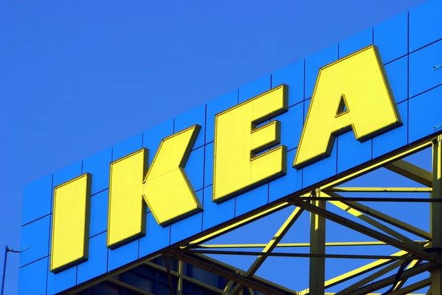 Iconic yellow  IKEA  letters installed in Oak Creek. Iconic yellow  IKEA  letters installed in Oak Creek   TMJ4