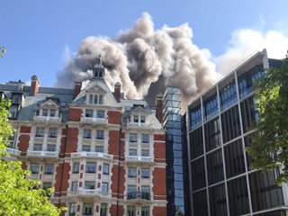 Fire rips through newly renovated London hotel