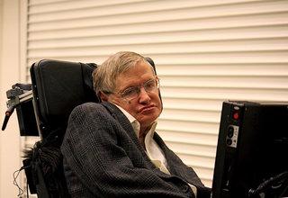 Stephen Hawking's voice bound for black hole