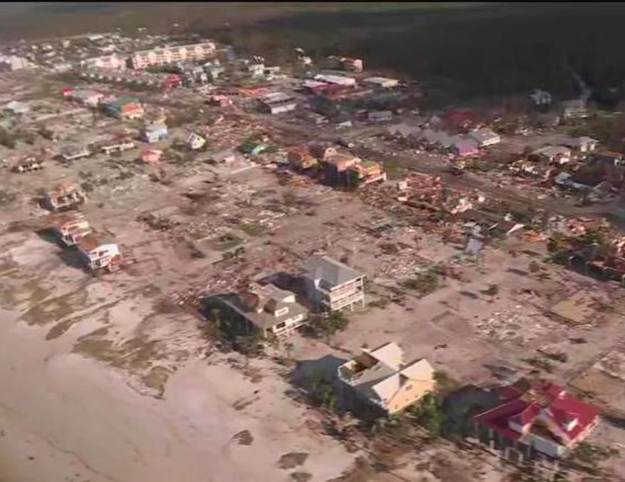 hurricane michael destroys mexico beach  florida